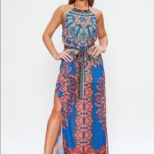 Women's maxi halter dress